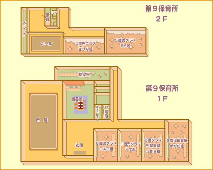 施設案内図のイラスト